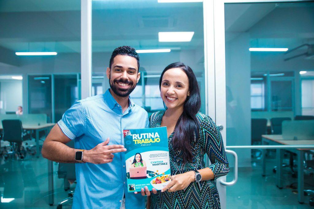Cynthia Martinez y Miguel Contes en el podcast de Cereal Empresarial